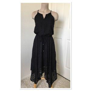 Mossimo Black Lace Asymmetrical Hem Dress XS